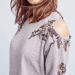 Anthropologie Deletta Twilight Ivy Pullover top